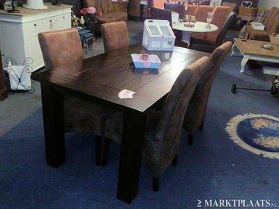 meubelen  Nieuwe eethoek tafel donker engels antiek