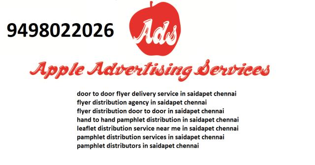 flyer distribution agency in saidapet chennai
