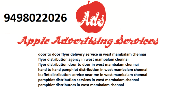 flyer distribution agency in west mambalam chennai