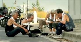 "Taiwan's TC Bank television commercial ""Dream Rangers"": Old friends eating together on the road."