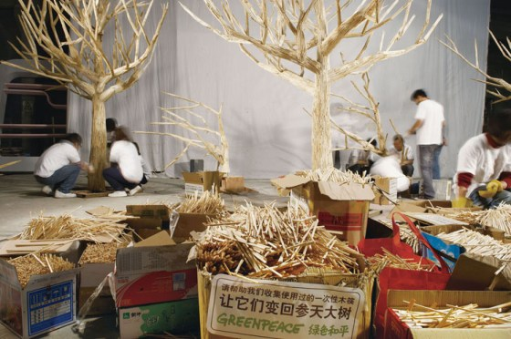 Greenpeace China - Chopstick Forest 13