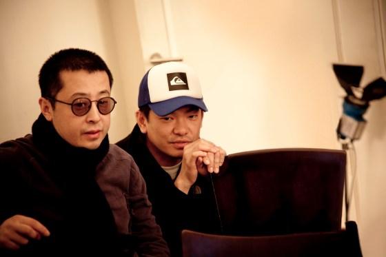 Director Jia Zhang Ke and BBH China ECD Johnny Tan on the set of 'Yulu'