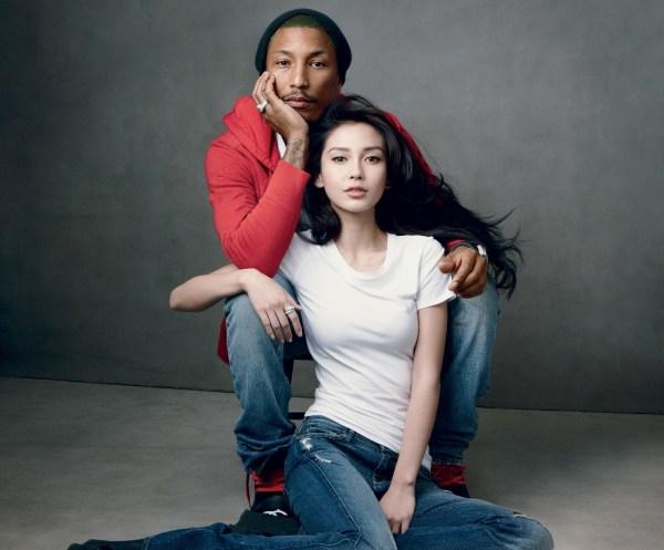 Angelababy & Pharrell Williams