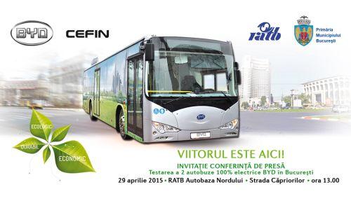 RATB continuă programul de testare a autobuzelor electrice
