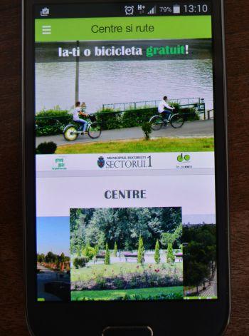 Alegeți traseul pentru plimbări cu bicicleta, direct de pe telefon