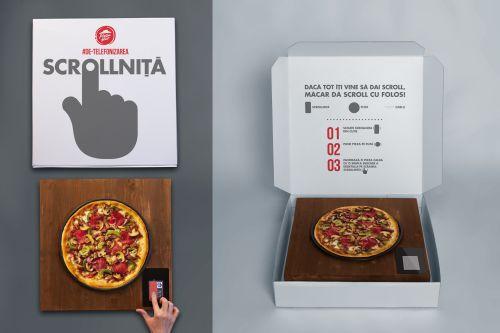 Pizza Hut si Golin au inventat Scrollnita