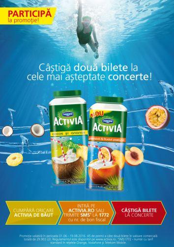 Activia aduce consumatorilor experiențe unice printr-o nouă campanie de vară