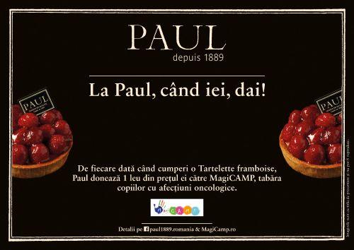 Cumpără o tartă cu zmeură de la Paul şi oferă zâmbete copiilor din MagiCAM
