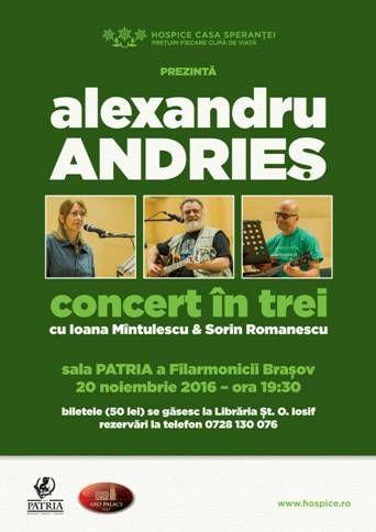 Alexandru Andries - Concert caritabil in sprijinul HOSPICE Casa Sperantei