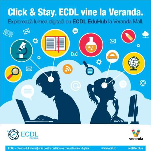 ECDL testeaza la Veranda Mall competentele digitale ale tinerilor