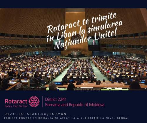 Rotaract te trimite in Liban la simularea Națiunilor Unite!