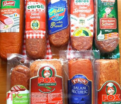 Ştii care este procentul de carne din sandvişul tău cu salam?
