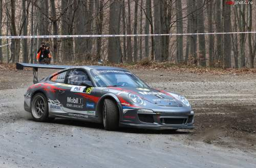 Alexandru Pitigoi cu Porsche 911 GT3 la Raliul Harghitei