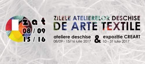 Ateliere de Arte Textile deschise, 08-09 iulie 2017 si Expoziție dedicată, începând cu data de 10 iulie 2017