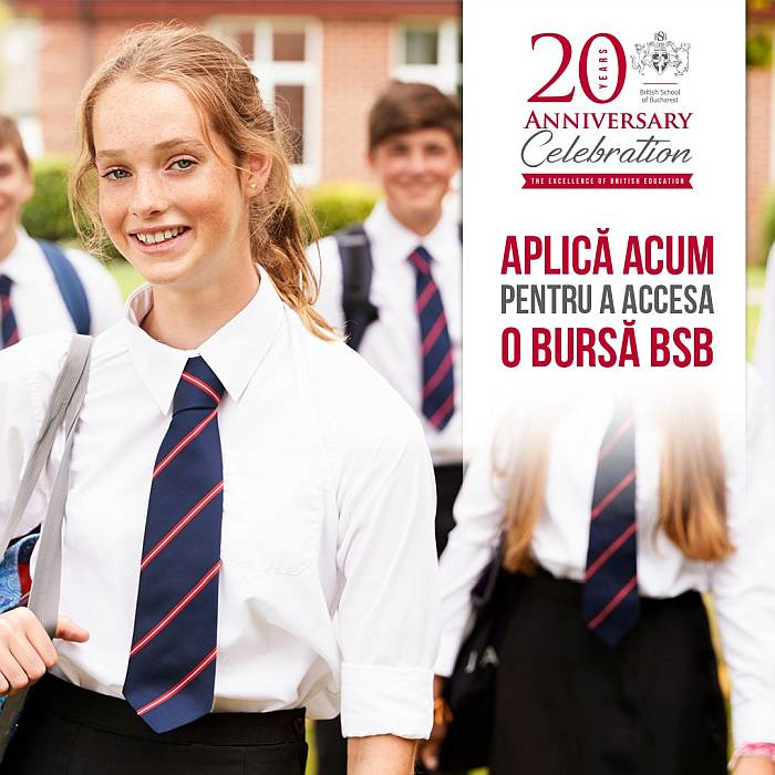 British School of Bucharest invită elevii să aplice la programul de burse 2020-2021