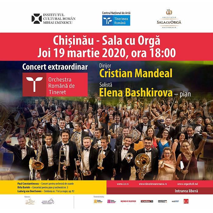 Orchestra Română de Tineret într-un nou turneu la Chișinău - București - Ruse in marie 2020