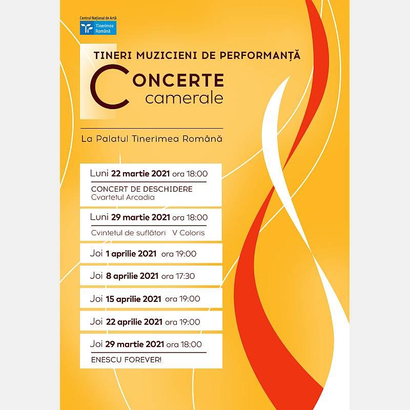 Concerte camerale la Palatul Tinerimea Română