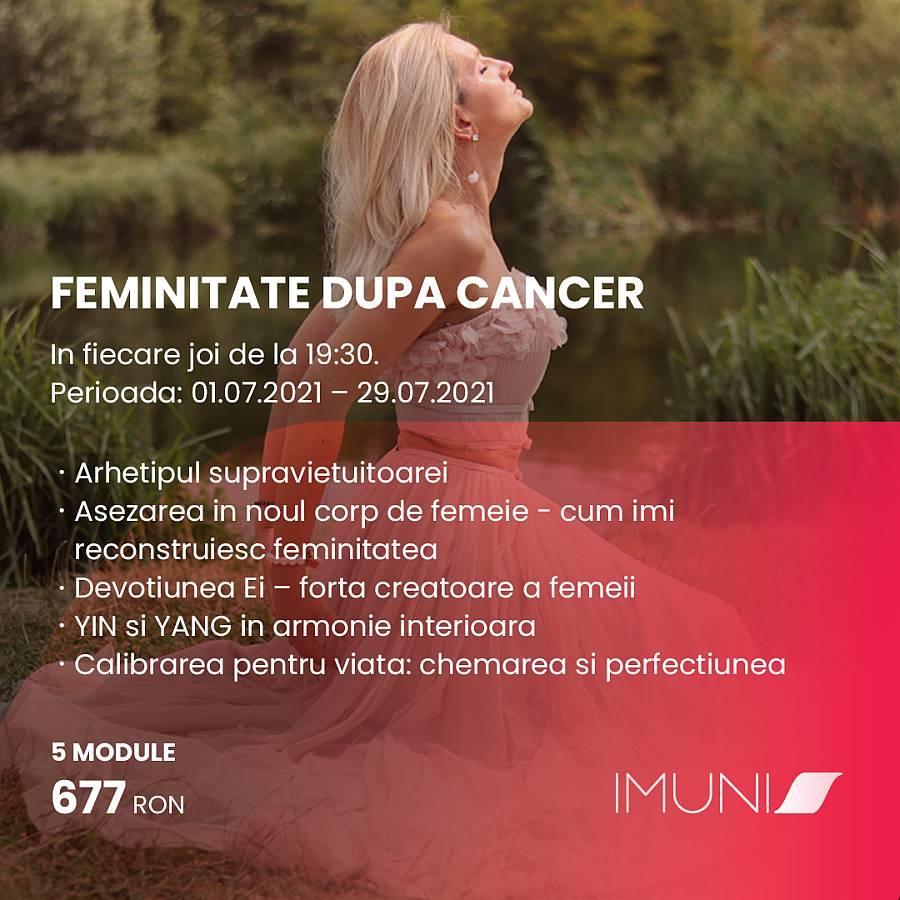 """Asociatia IMUNIS anunta a doua editie a programului """"Feminitate dupa cancer"""""""