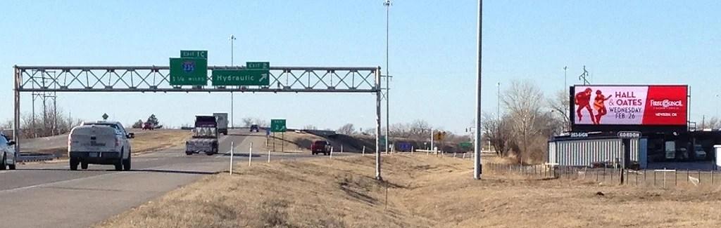 I-135 and Hydraulic (North Facing) Billboard Wichita, KS