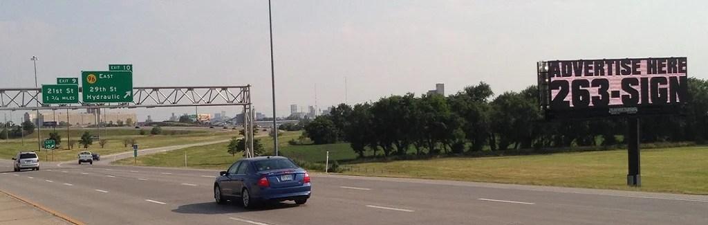 I-135 and 96 Hwy (North Face) Billboard Wichita, KS