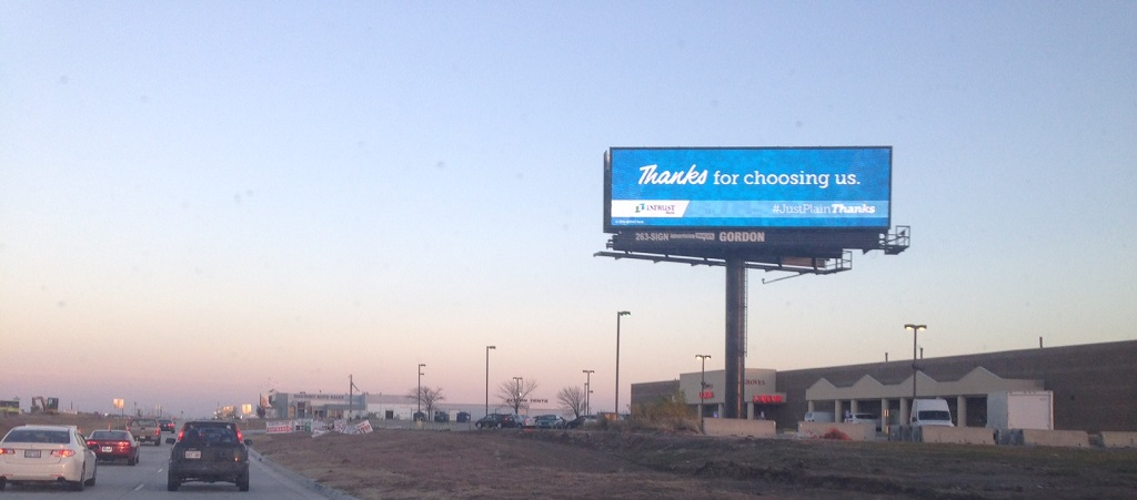 Kellogg and Webb (west face) Billboard Wichita, KS