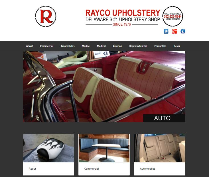 Rayco Upholstery Website Design