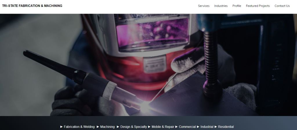Tri-State Fabrication Website Design