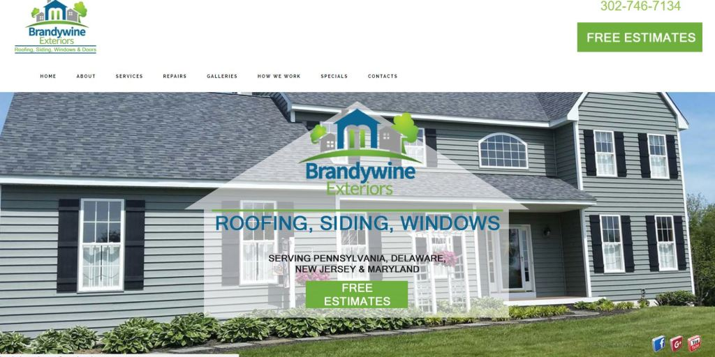 Brandywine Exteriors Website Design