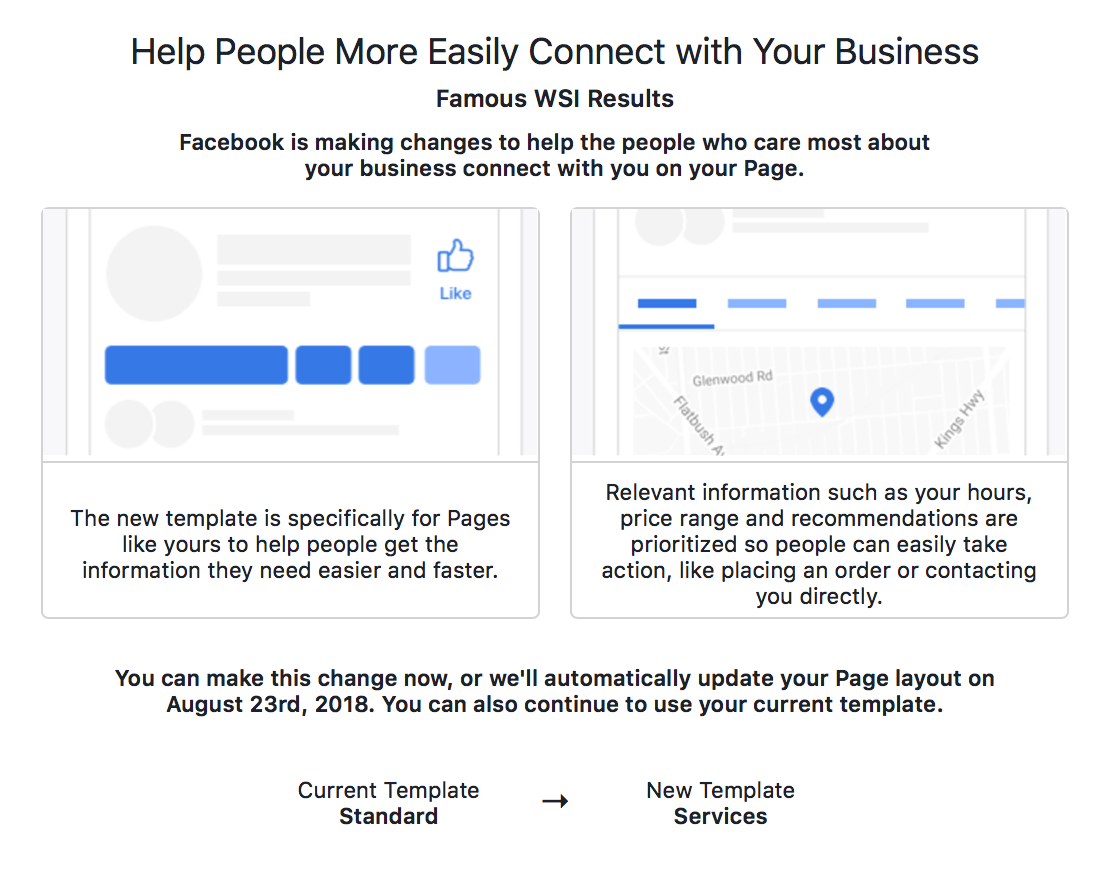 Choosing the right facebook template for your business the primary benefit of updating your current template to the one that suits your business the most is the fact your customer will have a better friedricerecipe Image collections