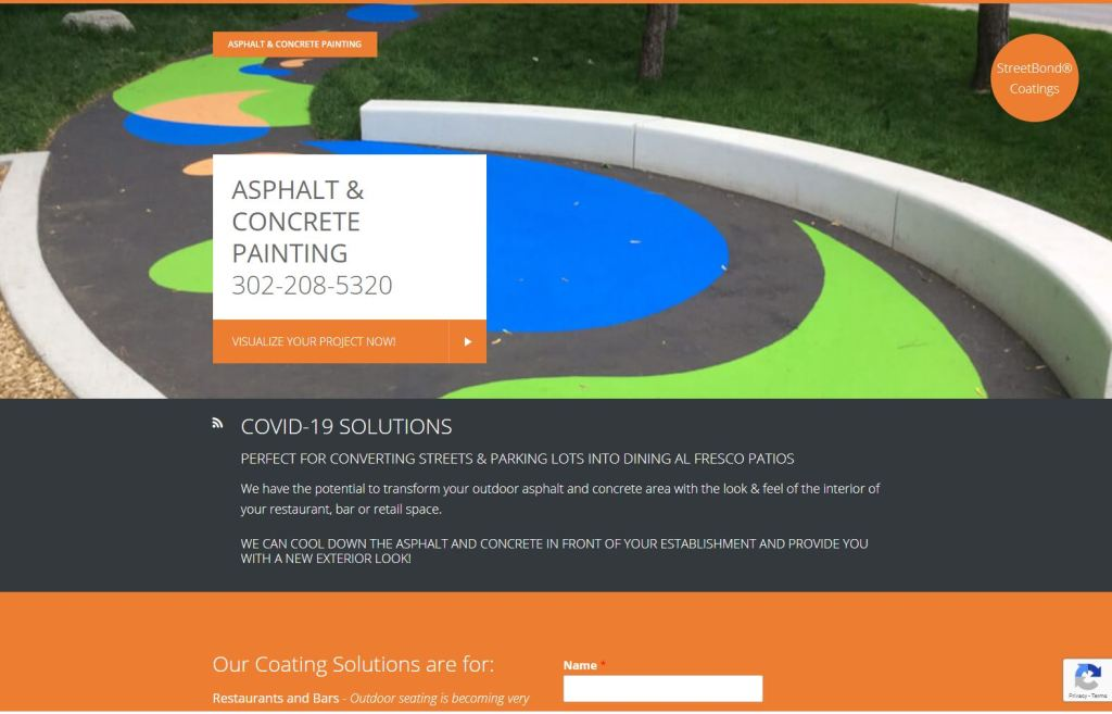 Asphalt and Concrete Painting