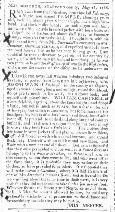 Jun 7 - 6:6:1766 Virginia Gazette