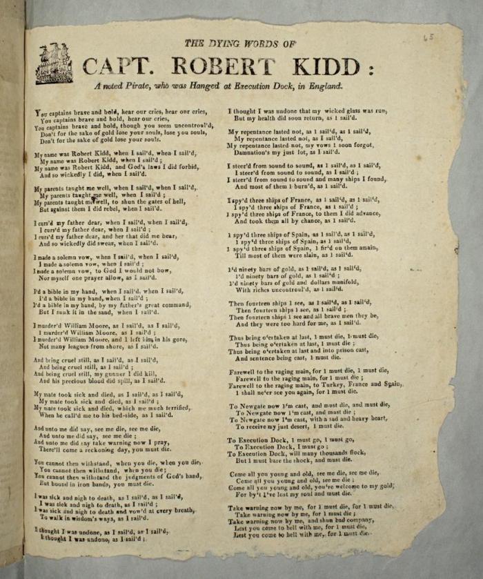 May 6 - Capt Kidd