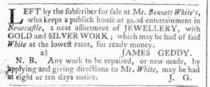 Aug 3 - 8:1:1766 Virginia Gazette
