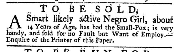 Apr 2 - New York Gazette Weekly Post-Boy Slavery 1