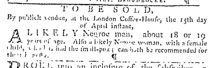 Apr 2 - Pennsylvania Gazette Slavery 2
