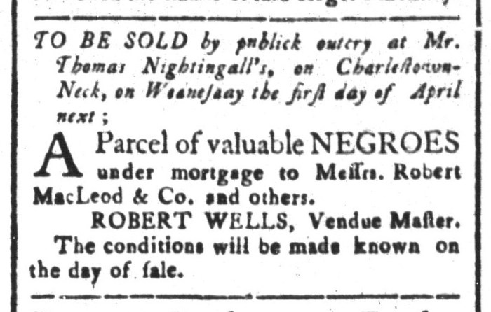 Mar 20 - South-Carolina and American General Gazette Slavery 5