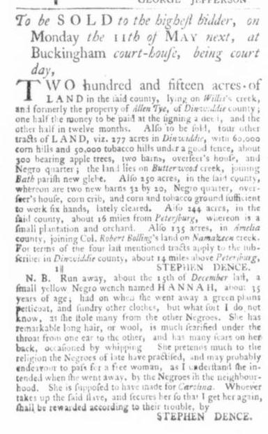 Mar 26 - Virginia Gazette Slavery 2