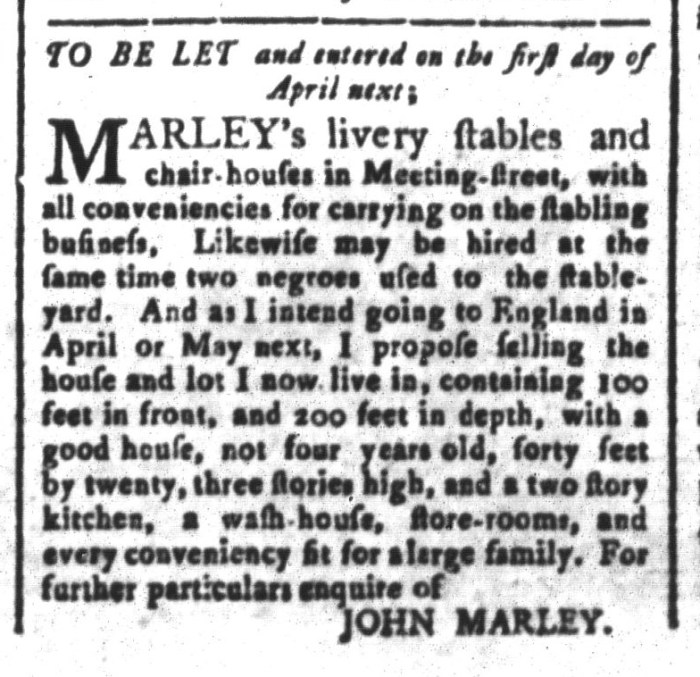 Mar 27 - South-Carolina and American General Gazette Slavery 8