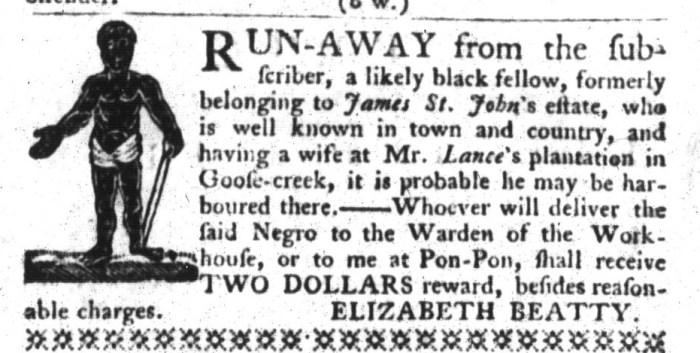 Mar 31 - South-Carolina Gazette and Country Journal Supplement Slavery 11