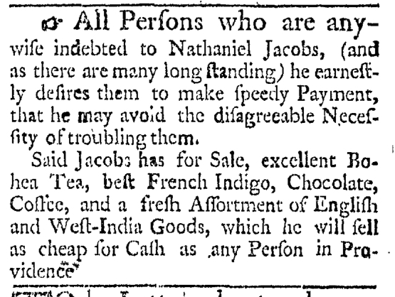 Mar 7 - 3:7:1767 Providence Gazette