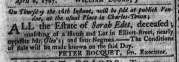 Apr 14 - South-Carolina Gazette and Country Journal Slavery 7