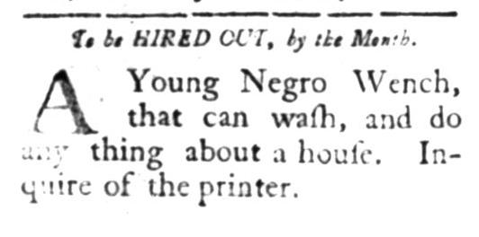 Apr 27 - South Carolina Gazette Slavery 1
