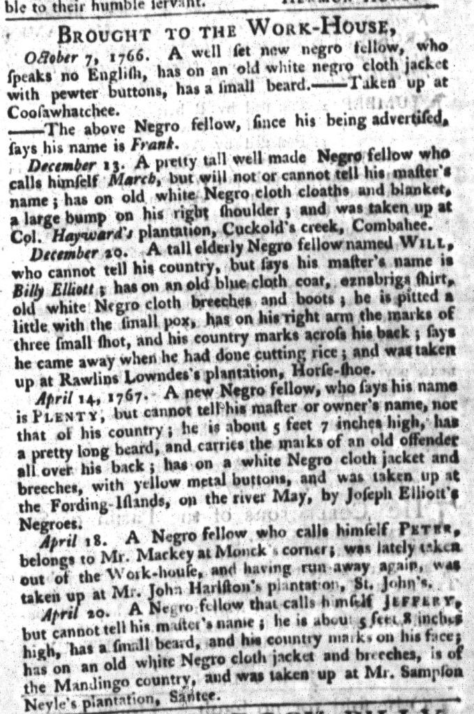 Apr 28 - South-Carolina Gazette and Country Journal Supplement Slavery 3