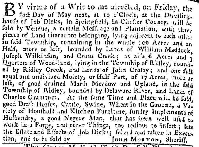 Apr 30 - Pennsylvania Gazette Slavery 2