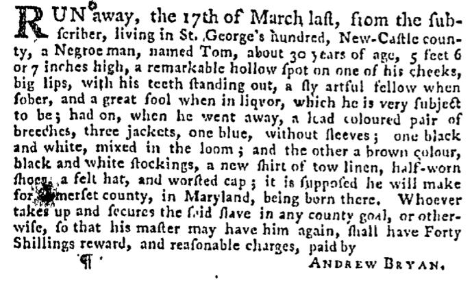 Apr 30 - Pennsylvania Gazette Supplement Slavery 2