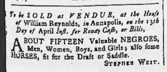 Apr 9 - Maryland Gazette Slavery 2
