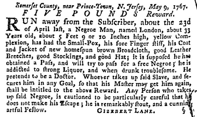 Jun 4 - Pennsylvania Gazette Supplement Slavery 3