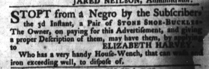 Jun 9 - South-Carolina Gazette and Country Journal Slavery 1