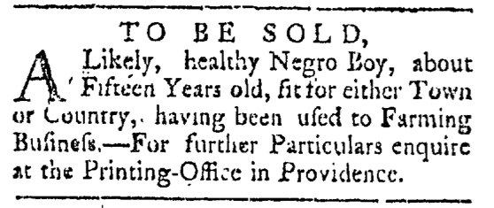 May 23 - Providence Gazette Slavery 3