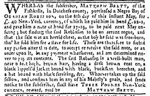 May 25 - New-York Mercury Slavery 1